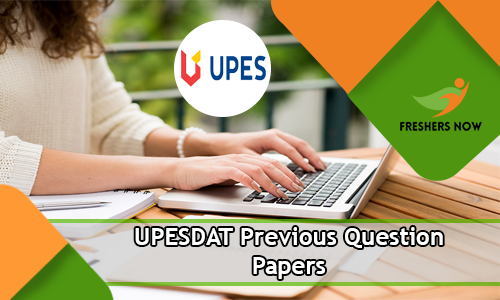 UPESDAT Previous Question Papers