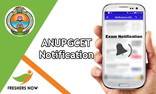 ANUPGCET Notification