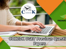 COMEDK UGET Previous Question Papers