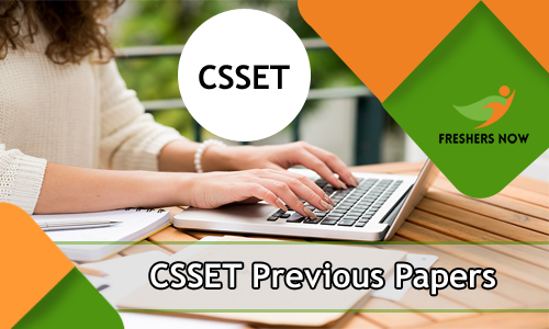 CSSET Previous Question Papers