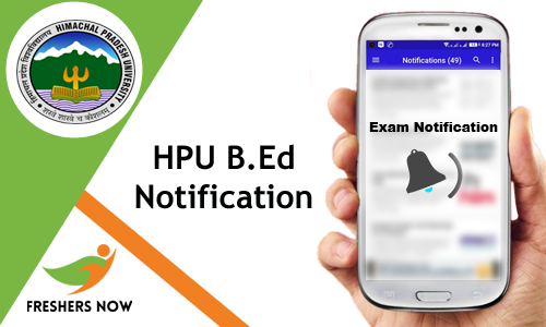 HPU B.Ed Notification