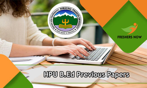 HPU B.Ed Previous Papers
