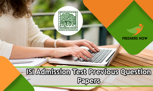 ISI Admission Test Previous Question Papers