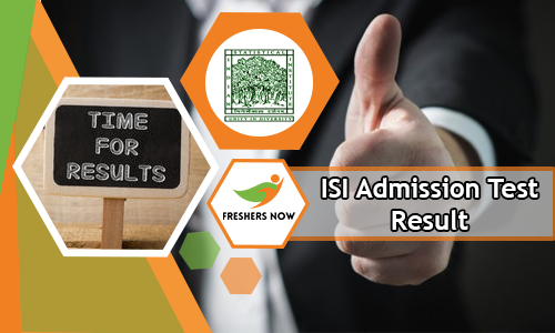 ISI Admission Test Result