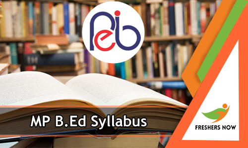 MP B.Ed Syllabus