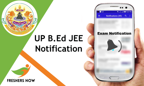 UP B.Ed JEE Notification