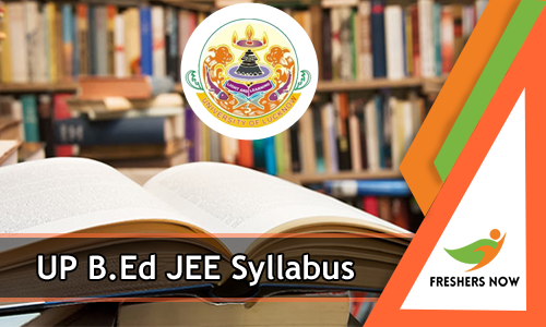 UP B.Ed JEE Syllabus