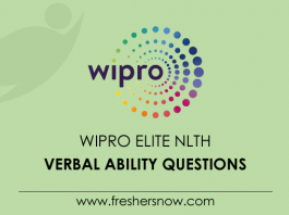 Wipro-Elite-NLTH-English-Questions
