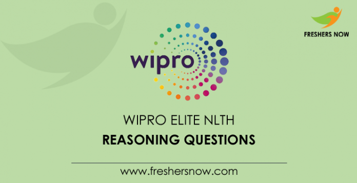 Wipro Elite NLTH Reasoning Questions