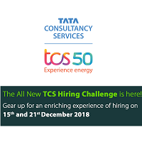 TCS Hiring Challenge 2018-2019 For Experienced Professionals