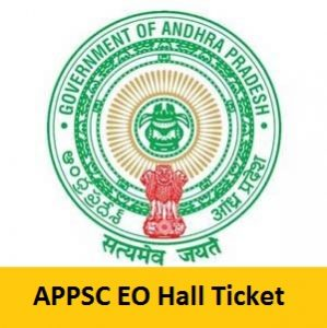 APPSC Extension Officer Hall Ticket