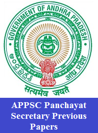APPSC Panchayat Secretary Previous Papers