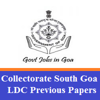 Collectorate South Goa LDC Previous Papers
