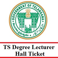 TS Degree Lecturer Hall Ticket