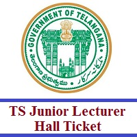 TS Junior Lecturer Hall Ticket