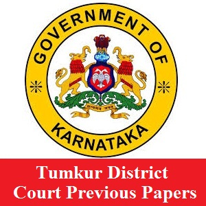 Tumkur District Court Previous Papers