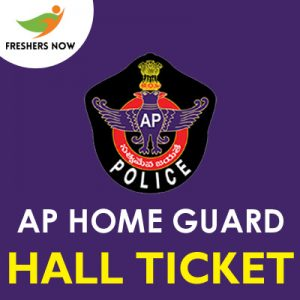 AP Home Guard Hall Ticket 2019