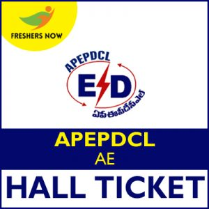 APEPDCL AE Hall Ticket 2019