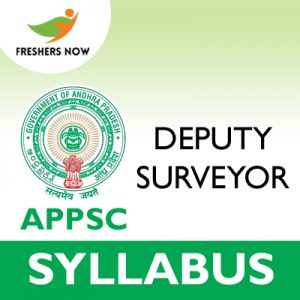 APPSC Deputy Surveyor Syllabus 2019
