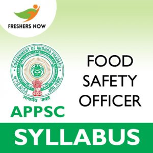 APPSC Food Safety Officer Syllabus 2019