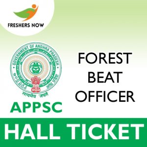 APPSC Forest Beat Officer Hall Ticket 2019