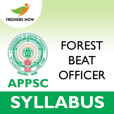 APPSC Forest Beat Officer Syllabus 2019