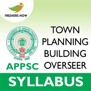 APPSC Town Planning Building Overseer Syllabus 2019