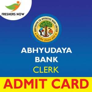 Abhyudaya Bank Clerk Admit Card 2019