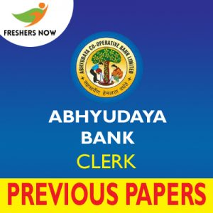 Abhyudaya Bank Clerk Previous Papers
