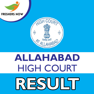 Allahabad High Court Result 2019