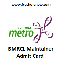 BMRCL Maintainer Admit Card 2019