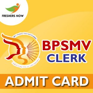 BPSMV Clerk Admit Card 2019