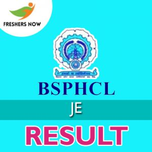 BSPHCL JE Result 2019