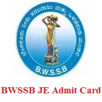 BWSSB JE Admit Card