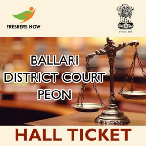 Ballari District Court Peon Hall Ticket 2019