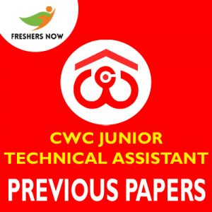 CWC Junior Technical Assistant Previous Papers