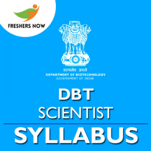 DBT Scientist 'C' Syllabus 2019