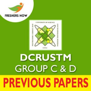 DCRUSTM Group C D Previous Papers