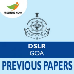 DSLR Goa Previous Papers