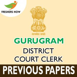 Gurugram District Court Clerk Previous Papers