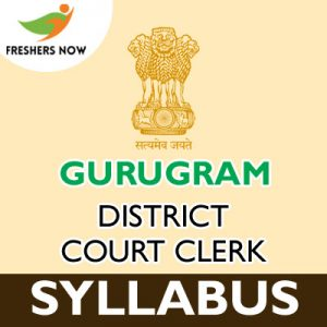 Gurugram District Court Clerk Syllabus 2019