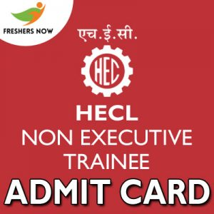 HECL Non Executive Trainee Admit Card 2019