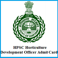 HPSC Horticulture Development Officer Admit Card 2019