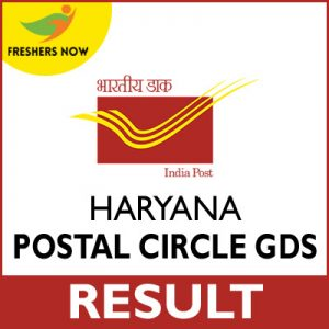 Haryana Post Circle GDS Result