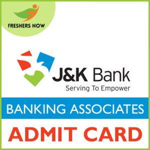 JK Bank Banking Associates Admit Card 2019