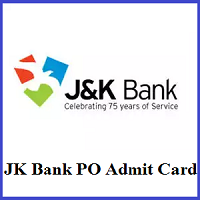 JK Bank PO Admit Card 2019