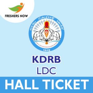 KDRB LDC Hall Ticket 2019