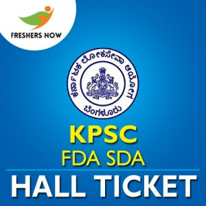 KPSC FDA SDA Hall Ticket 2019