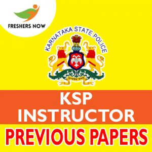 KSP Instructor Previous Papers