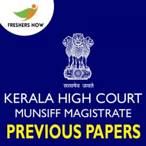 Kerala High Court Munsiff Magistrate Previous Papers